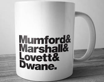 Mumford & Sons Rock Band Mug