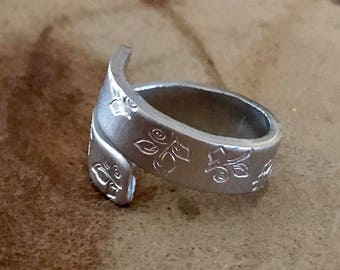 Custom wrap ring silver ring thumb ring copper ring personalized ring best friend gift secret message ring girlfriend gift mom gift