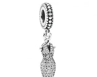 Sterling Silver Dazzling Dress Charm