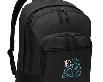 Bass Fishing Personalized Monogrammed Embroidered Backpack