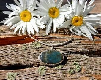 Balanced labradorite pendant