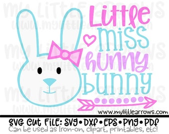 Little miss hunny bunny svg - Easter svg - bunny svg - hunny bunny svg - cute Easter svg - girl Easter svg - Easter dxf - Easter iron on