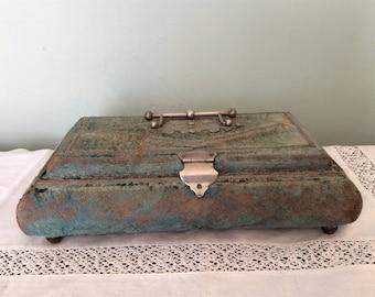 A beautiful Vintage blue velvet Cadburys Chocolate Box.