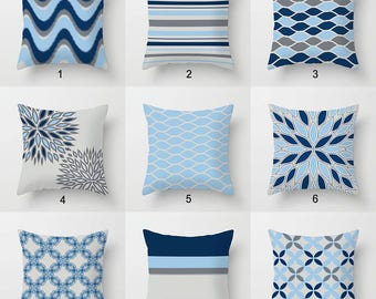 Blue gray pillow Etsy