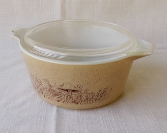 Vintage Pyrex Casserole, Forest Fancy, 1 1/2 Quart