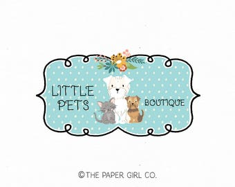 dog logo cat logo pet logo photography logo pet sitting logo pet bakery logo pet boutique logo premade logo kitten logo puppy logo watermark