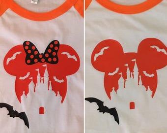 Custom Disney Halloween Raglan Shirts