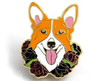 Corgi Enamel Pin, Dog Enamel Pins, Corgi Lover Gift, Welsh Corgi, Dog Hard Enamel Pin, Gift for Dog Lover, Gift for Corgi Lover, Welsh Corgi