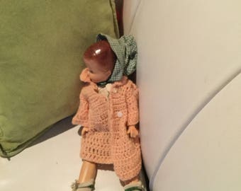 Collectible vintage composing doll