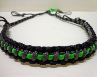 Custom Paracord Call Lanyard Grey Black and Neon Green Duck/Goose Hunting Accessories