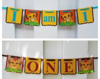 Lion King High Chair Banner, Lion Guard High Chair Banner, Lion King I am 1, Lion Guard I am 1, Kion Banner, Simba Banner