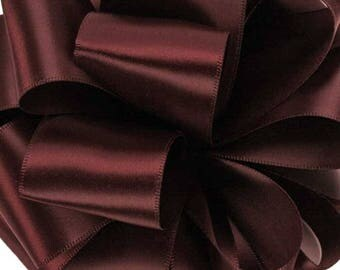 """NEW Offray 1-1/2"""" double faced Wine satin ribbon, Satin Wine Ribbon, 1 yard Wine Sash Ribbon"""