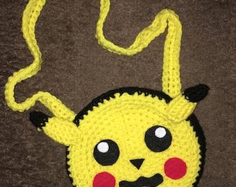 Crochet Pikachu purse
