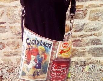 """Bag / satchel """"Retro"""" cotton by Pipouchhh"""