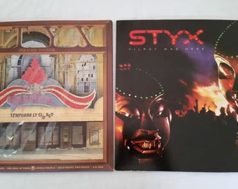 """2 Styx """"Kilroy Was Here"""" & """"Paradise Theater"""" - Gate Fold 1st Press - NM Vinyl - Near Mint Condition"""