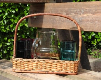 Vintage water jug and glasses set