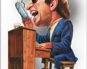 Steely Dan Donald Fagen  Celebrity Caricature