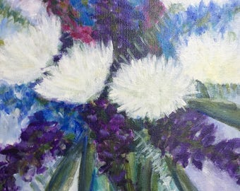 """Original Acrylic Painting on canvas """"Spring Bouquet"""" 11 x 14"""".  ***Free Shipping!***"""