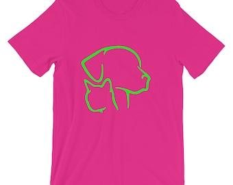 Short-Sleeve Unisex T-Shirt, Ladies Cat and Dog tshirt, Mens Cat and Dog tshirt, Animal lover tshirt