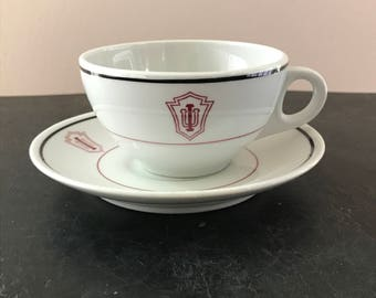 Vintage Indiana University Tea Cup and Saucer