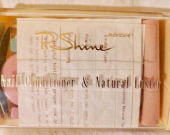Vintage Manicure Set P. Shine Nail Conditioner & Natural Luster