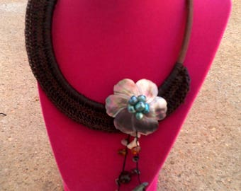 Vintage Hand Woven Hawaiian style Shell Necklace