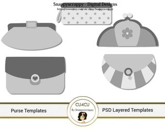 Purse  Photoshop Layered Templates