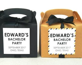 Bachelor Party Favors / Bachelor party gifts / bachelor party decor / black boxes / bachelor party decor / bachelor party favor
