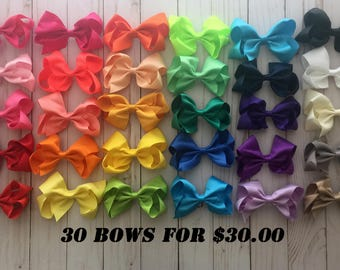 4 inch hair bows, Girl Bows, Little Girl Hair Bows
