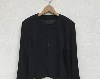 20% OFF Vintage Y's Bis by Yohji Yamamoto Button Jacket Coat/Yohji Yamamoto Black Coat/Issey Comme des