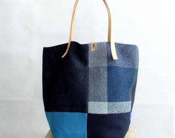 Large Tote Bag, Market Bag, Blue Tote Bag, Shopping Bag, Tote Bag with Pockets, Blue Bag, Blue Tote, Everyday Bag, Handmade Bag