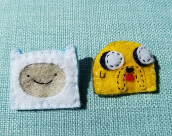 Jake and Finn Felt Pin