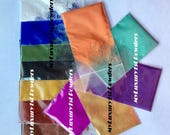 Free Shipping! LOT of 12 1g MATTE & MICA Samples Soap Making Pigments Iron Oxides Titanium Dioxides Ultramarine Powders Blue Green Teal Gold