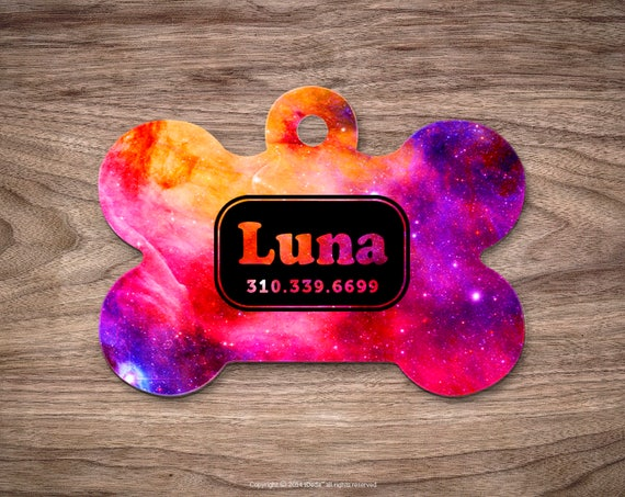 Pet id Tag Dog Tags for Dogs Galaxy Dog Tag Personalized Cat Tags Pet Gift Custom Dog Tag Pet Tags Dog Tags Personalized
