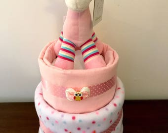 Giraffe nappy cake