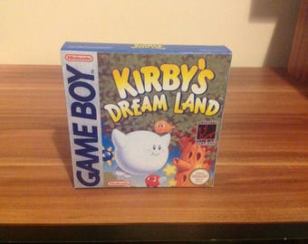 Game Boy Kirbys Dreamland - Repro Box & Insert NO GAME INCLUDED
