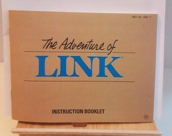 NES The Legend of Zelda - The Adventure of Link -  Replacement Manual