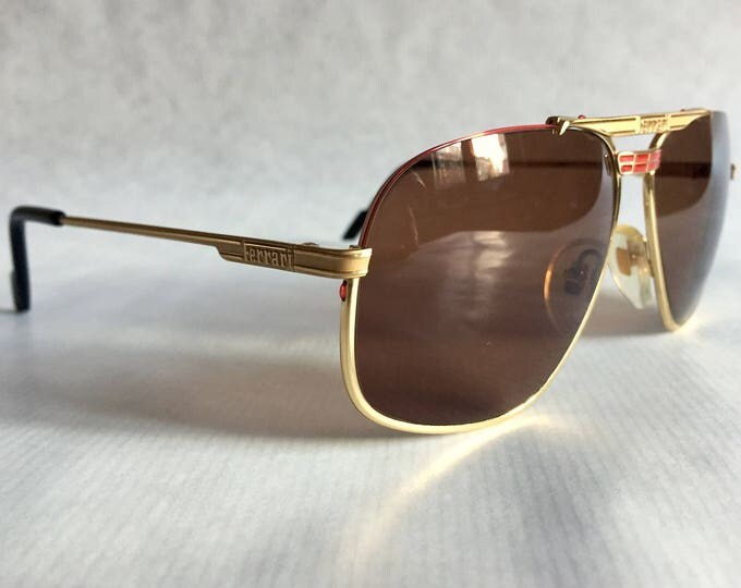Ferrari F2 524 Vintage Sunglasses New Old Stock Made in Italy