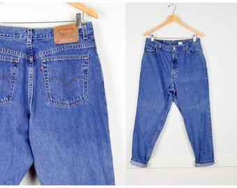 Large Levis Mom Jeans, Vintage Clothing, 90s Clothing, XL High Waisted Mom Jeans 34, 90s Clothes, 90s Jeans, Hipster Jeans Grunge Jeans 550