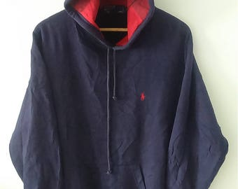 Rare Vintage POLO by Ralph Lauren Sweatshirt Hoodie Small Pony Size L