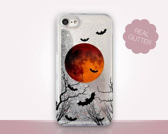 Halloween Glitter Phone Case Clear Case For iPhone 8 iPhone 8 Plus - iPhone X - iPhone 7 Plus - iPhone 6 - iPhone 6S - iPhone SE  iPhone 5