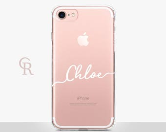 Personalised Clear Phone Case For iPhone 8 iPhone 8 Plus - iPhone X - iPhone 7 Plus - iPhone 6 - iPhone 6S - iPhone SE - Samsung S8 iPhone 5