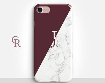 Personalised Maroon iPhone 7 Case For iPhone 8 iPhone 8 Plus - iPhone X - iPhone 7 Plus - iPhone 6 - iPhone 6S - iPhone SE - Samsung S8