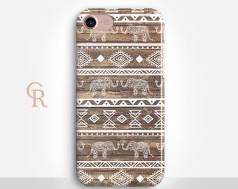 Elephant Phone Case For iPhone 8 iPhone 8 Plus iPhone X Phone 7 Plus iPhone 6 iPhone 6S  iPhone SE Samsung S8 iPhone 5 Tribal Animal S7 Edge