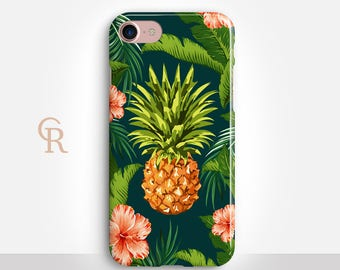 Pineapple Phone Case For iPhone 8 iPhone 8 Plus iPhone X Phone 7 Plus iPhone 6 iPhone 6S  iPhone SE Samsung S8 iPhone 5 Floral Summer