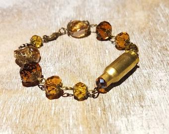 Beaded. 22 TCM Bullet Casing Bracelet