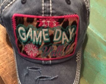 Distressed It's Game Day Y'all Ball Cap