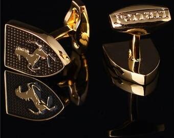 Ferrari Cufflinks in Gold Plated