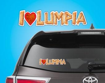 I Love Lumpia (I Heart Lumpia) Sticker
