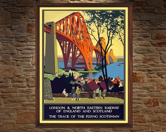 Englad Travel Poster , Vintage Travel Poster